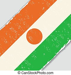 Niger grunge flag. Vector illustration. - Niger grunge flag...