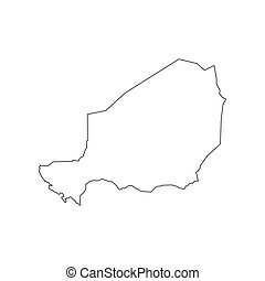 Niger map silhouette