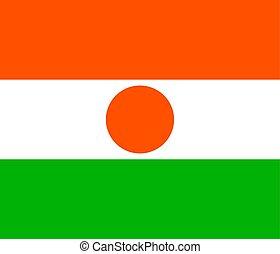 Niger national flag. Vector illustration. Niamey - The...
