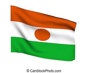 NIGER NYAME - Flag of niger nyame