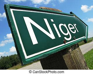 Niger road sign