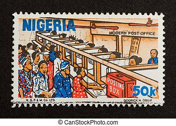 NIGERIA - CIRCA 1980: Stamp printed in Nigeria