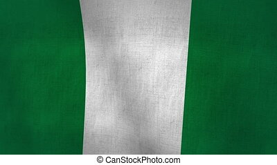 Nigeria Flag Background (Loop-able)