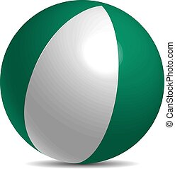 Nigeria flag on a 3d ball with shadow