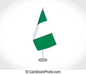 Nigeria flag on white background - National fabric vector ...