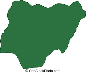 Map nigeria Map of nigeria with the provinces eps vectors