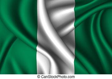 national flag of silk.