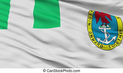 Nigeria Naval Ensign Flag Closeup Seamless Loop - Naval...