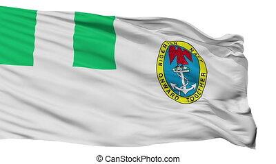 Nigeria Naval Ensign Flag Isolated Seamless Loop - Naval...