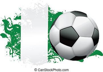 Nigeria Soccer Grunge Design