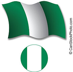 nigeria textured wavy flag vector