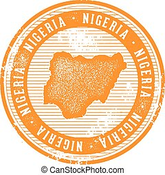 Nigeria Vintage Country Stamp for Tourism