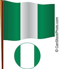 nigeria wavy flag