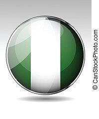 Nigeriai flag button