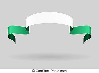 Nigerian flag background. Vector illustration. - Nigerian...