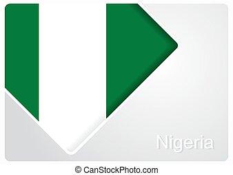 Nigerian flag design background. Vector illustration. -...