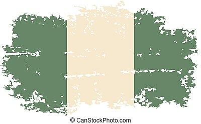 Nigerian grunge flag. Vector illustration. Grunge effect can...
