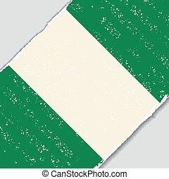 Nigerian grunge flag. Vector illustration. - Nigerian grunge...