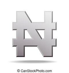 Nigerian Naira currency sign - Naira currency sign. Symbol...