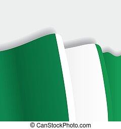 Nigerian waving Flag. Vector illustration. - Nigerian waving...
