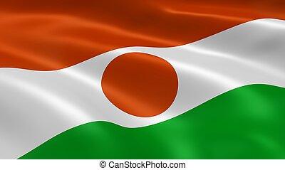 Nigerien flag in the wind
