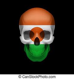 Nigerien flag skull