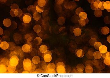 night., światła, abstrakcyjny, defocused, tło