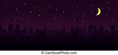 night., 超高層ビル, 都市の景観, グループ