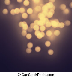 Night Abstract defocused lights bokeh background with natural go