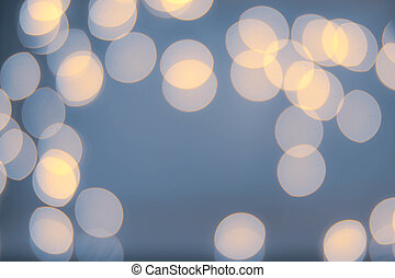 Night Abstract defocused lights bokeh background. White Lights F