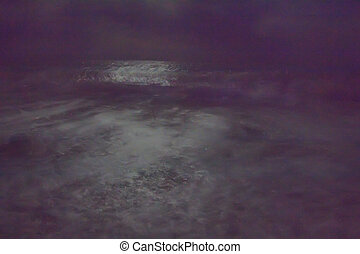 night and dark and a storm at sea