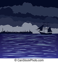Night at sea