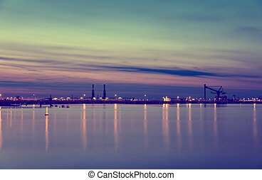 Night at the port