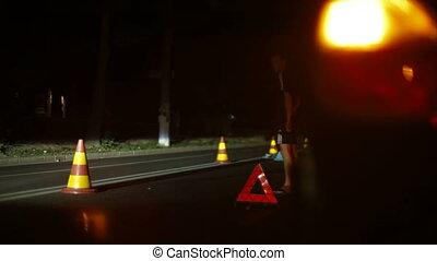Night Auto Accident