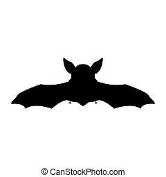 Night bat black icon .