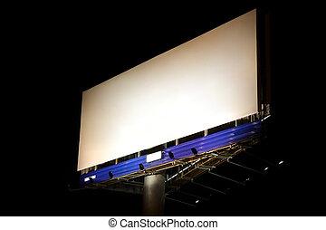 Night billboard - Blank billboard in the night