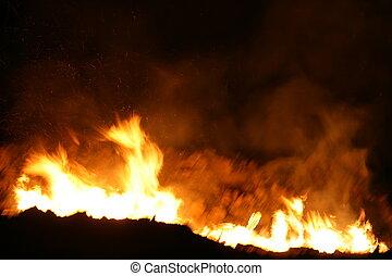 Night Blaze - Roaring Fire
