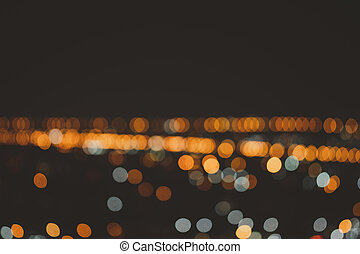 Night bokeh light in city. Abstract blur background.