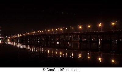 night bridge over the river