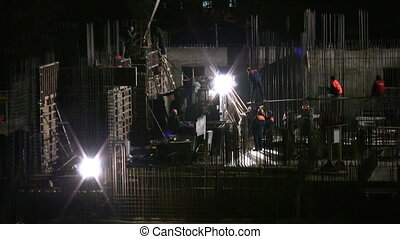 night building construction