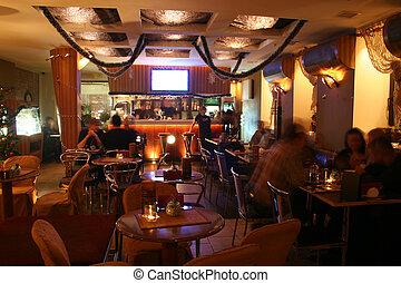 night cafe interior