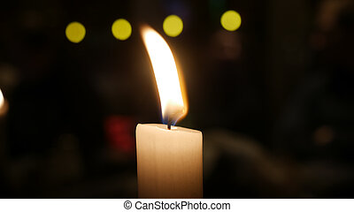night candle light