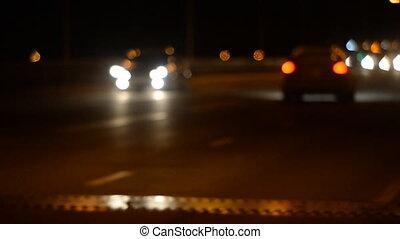 Night Car traffic highway city