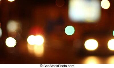Night Cars Traffic Bokeh