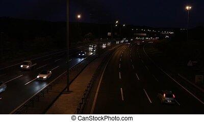 Night Cars Traffic in Istanbul