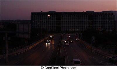 Night Cars Traffic Istanbul