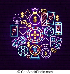 Night Casino Neon Concept
