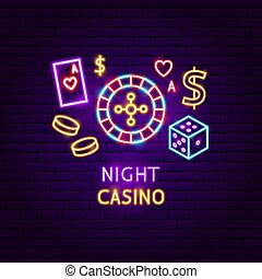 Night Casino Neon Label