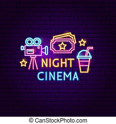 Night Cinema Neon Sign