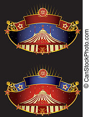 Night circus banners